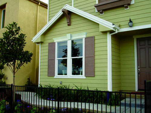 Fypon 12 x 36 polyurethane louvered shutters with center for Fypon exterior shutters