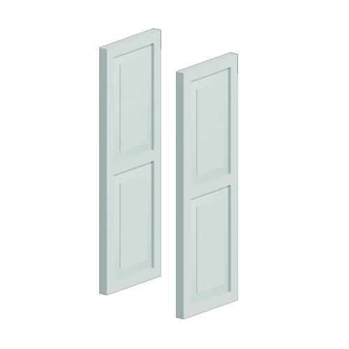 Fypon 16 x 54 polyurethane double raised panel shutters for Fypon exterior shutters