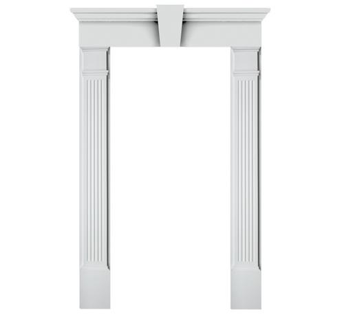 Fypon Entrance Trim Kit With 6 X 85 Fluted Pilasters And