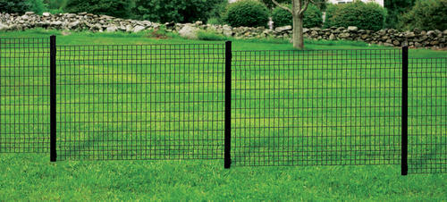 50 Quot Black Euro Steel Fence Post With Hardware At Menards 174