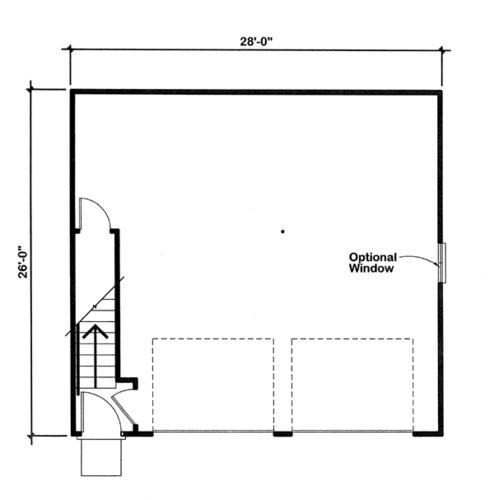 Two bedroom apartment garage building plans only at menards for Garage apartment plans canada