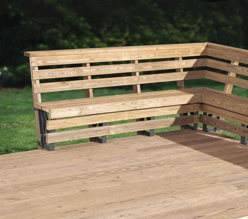 Deck Bench Seating: 2x4basics® Dekmate Bench Bracket