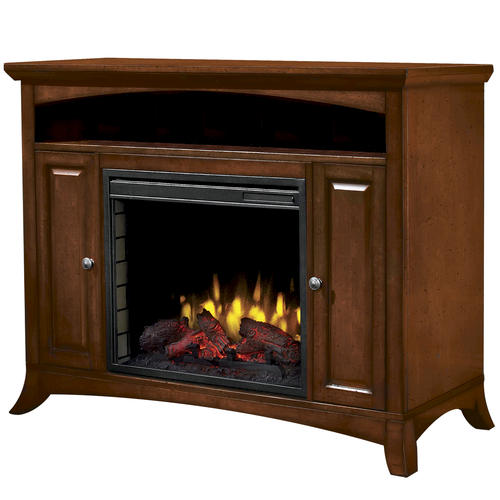 Taylor Cherry Media Electric Fireplace With Remote At Menards