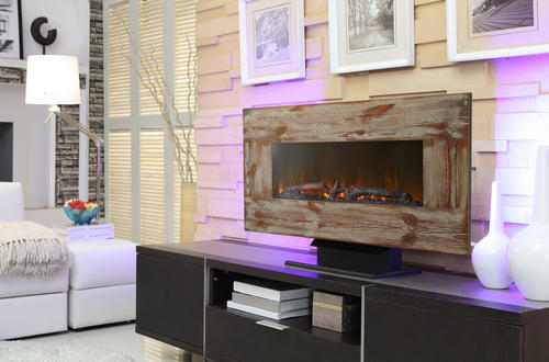 36 Quot Flat Linear Electric Fireplace At Menards 174