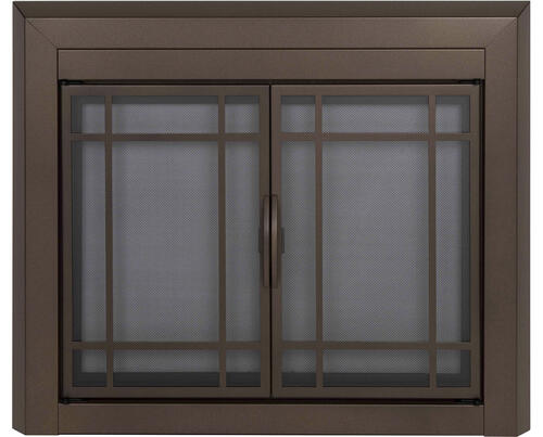 Enfield Medium Prairie Cabinet Style Fireplace Door At