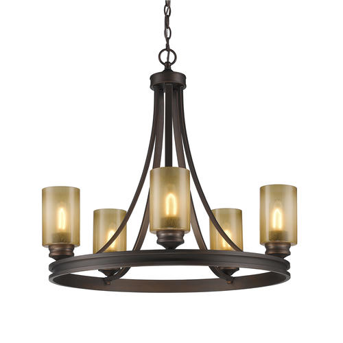 Patriot Lighting Roswell 27 5 Sovereign Bronze 5 Light Chandelier At M
