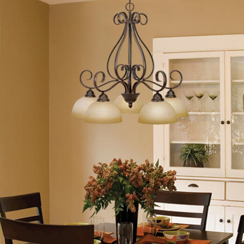 Patriot Lighting Newton 27 5 Light Peppercorn Nook Chandelier At Menards