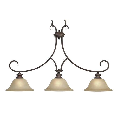 Patriot Lighting Barrington 36 Rubbed Bronze 3 Light Island Light At M