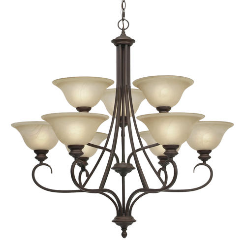 Patriot Lighting Barrington 36 Rubbed Bronze 9 Light Chandelier At Men