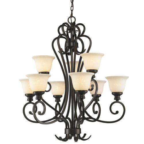 Patriot Lighting Lafayette Burnt Sienna 9 Light Chandelier At Me