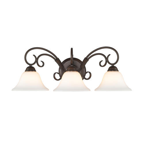 lighting highland 24 rubbed bronze 3 light vanity at menards