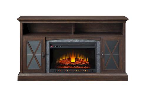 Whalen Sheldon 60 Cappuccino Electric Fireplace At Menards