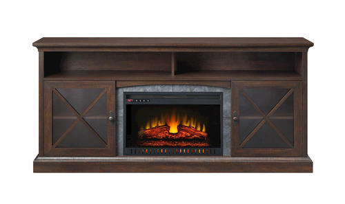 Whalen Sheldon 72 Cappuccino Electric Fireplace At Menards