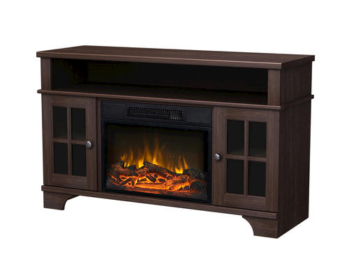 Masterflame Harris Distressed Oak Finish Electric Fireplace At Menards