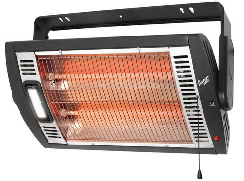 Comfort Zone Ceiling Wall Mounted Dual Quartz Heater At