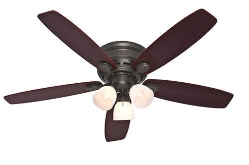 hunter low pro 52 provencal gold ceiling fan at menards. Black Bedroom Furniture Sets. Home Design Ideas