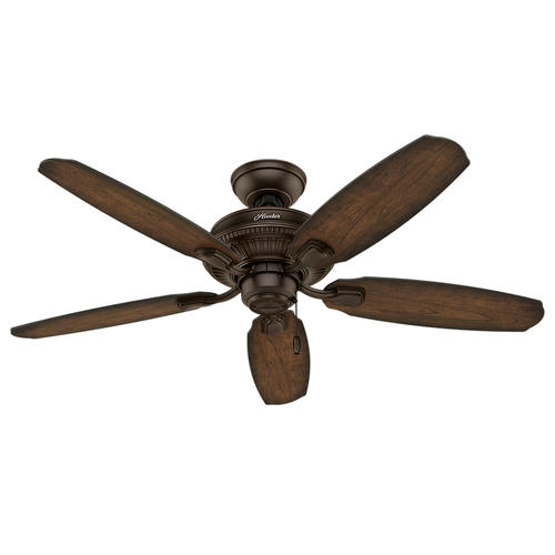 "Lamps Menards Lights Lowes Ceiling Fans Clearance Menards: Hunter Ashbrook 48"" Brushed Cocoa Ceiling Fan With Light"