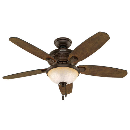 "Hunter Ashbrook 48"" Brushed Cocoa Ceiling Fan With Light"