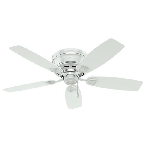 """Hunter Ceiling Fan Light Kit Ceiling Fans Menards Rustic: Hunter Sea Wind 48"""" White Ceiling Fan At Menards®"""