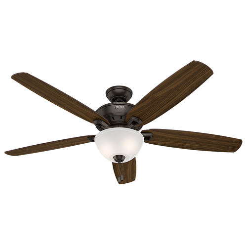 "Interior Exhaust Fan Bathroom Ceiling Fans Menards Hunter: Hunter Capshaw 60"" Premier Bronze Ceiling Fan With Light"