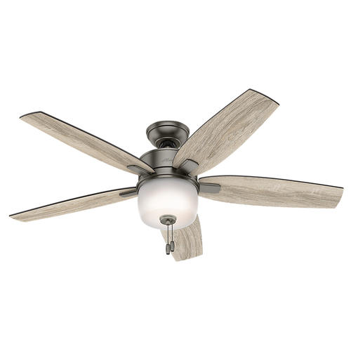 """Hunter Valero 52"""" Brushed Slate Ceiling Fan with Light at"""