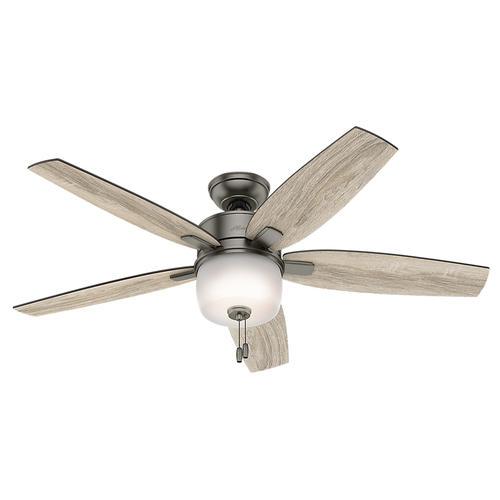 hunter valero 52 brushed slate ceiling fan with light at menards. Black Bedroom Furniture Sets. Home Design Ideas