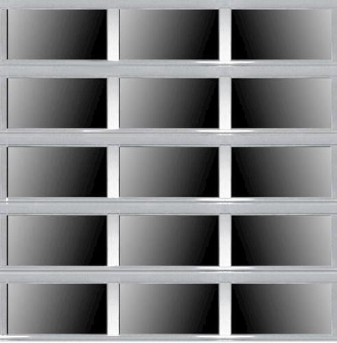 Ideal door 10 ft x 10 ft 5 star silver full view full for 10x10 overhead door price