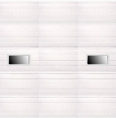 Ideal door 10 ft x 10 ft 5 star white ribbed 2 lite for 17 ft garage door