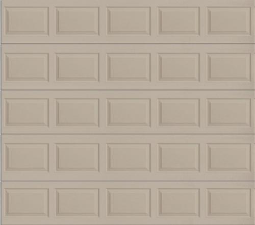 Ideal door 10 ft x 10 ft 4 star sandtone raised pnl for 10x10 garage door with windows