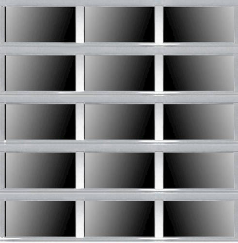 Ideal door 12 ft x 10 ft 5 star silver full view full for 12 x 10 garage door