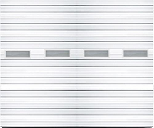 Ideal Door 14 Ft X 14 Ft 3 Star White Deep Ribbed