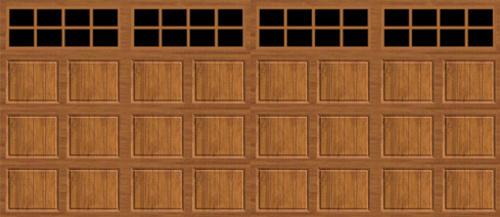 Ideal door 16 ft x 8 ft medium oak short pnl carriage for 16 ft garage door panels