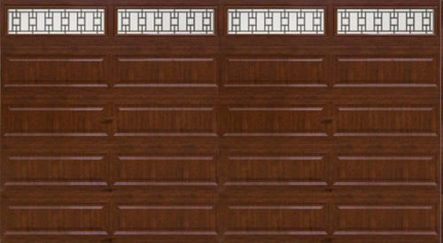 Ideal door 16 ft x 8 ft 5 star cherry finish trenton for 16x8 garage door prices