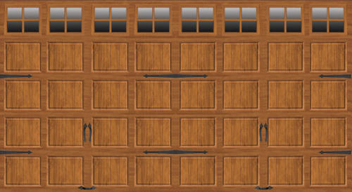Ideal door 16 ft x 8 ft medium oak steel carriage house for 16x8 garage door prices