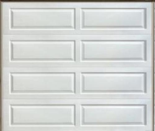Ideal door 8 ft x 7 ft 4 star white ranch pnl insul for Ideal garage doors