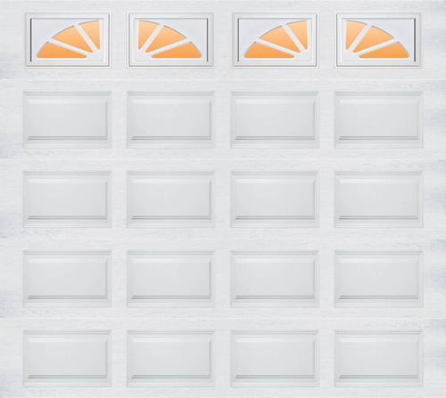 Ideal door sherwood 9 ft x 8 ft 5 star white raised pnl for 9x8 bathroom designs