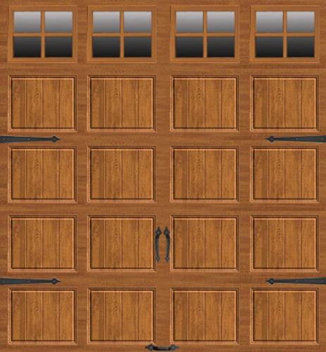 ideal door 9 ft x 8 ft medium oak steel carriage house ez set