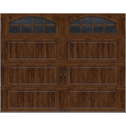 Ideal Door 174 9 Ft X 7 Ft Walnut Long Pnl Carriage House