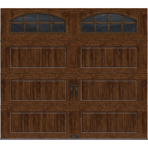 ideal door 174 9 ft x 8 ft walnut pnl carriage house insul ez set 174 garage door at menards 174
