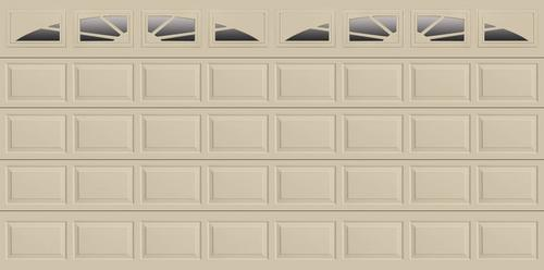 Ideal door sunrise 16 ft x 8 ft 4 star desert tan insul for 16 ft x 8 ft garage door