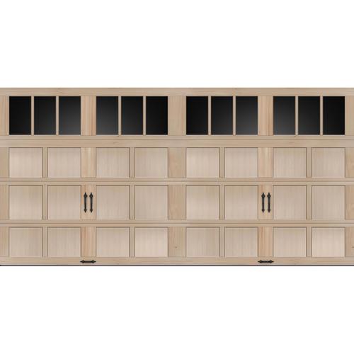 Ideal door rec13 lites carriage house wood mh2h 16 ft x for 16 ft x 8 ft garage door