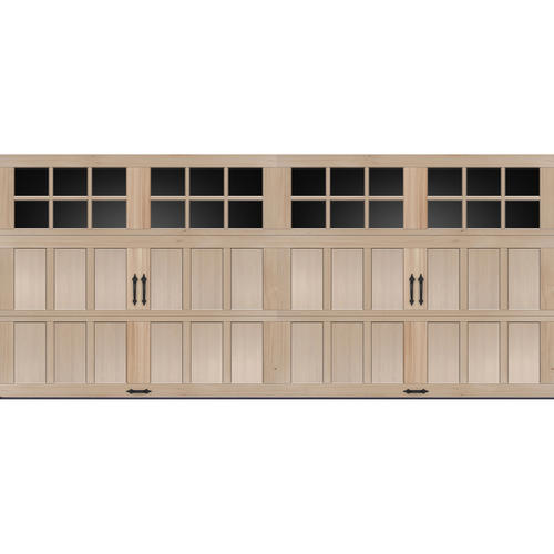 Ideal Door® SQ23 Lites Carriage House Wood MH3H 16 Ft. X 7