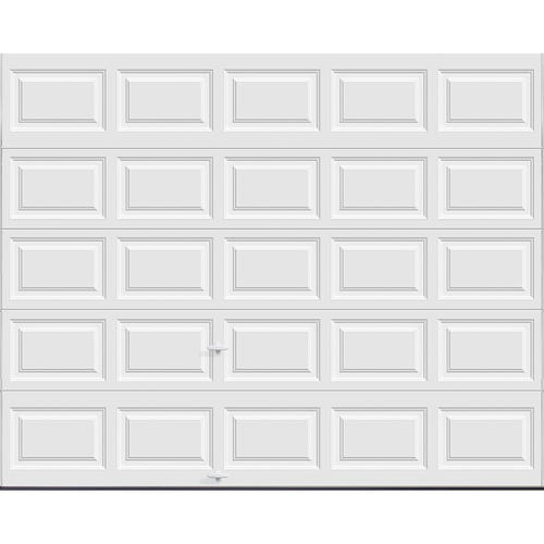 Ideal door 10 ft x 8 ft 5 star white insul torsion for 17 foot wide garage door