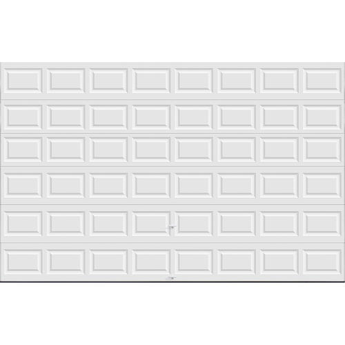 Ideal door 16 ft x 10 ft 5 star white raised pnl insul for 17 foot wide garage door