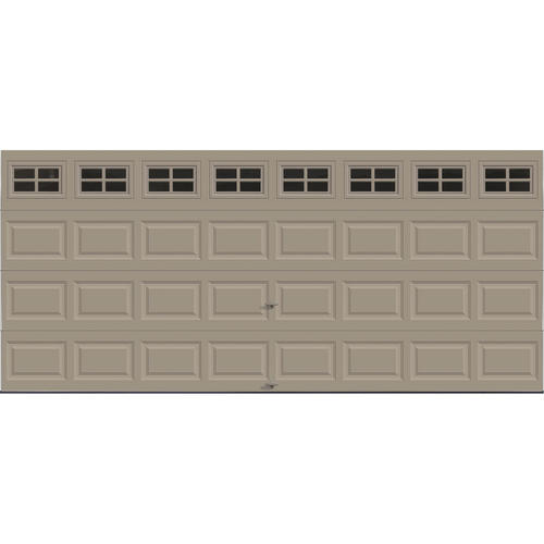 Ideal door stockton 16 ft x 7 ft 5 star sandtone insul for 16x7 garage door prices