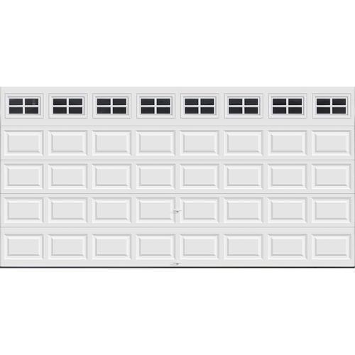 Ideal door stockton 16 ft x 8 ft 5 star white raised for 16 ft x 8 ft garage door