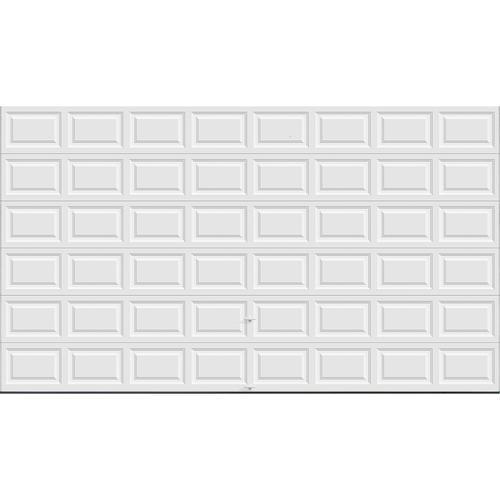Ideal door 16 ft x 9 ft 5 star white raised pnl insul for 16 foot garage door springs