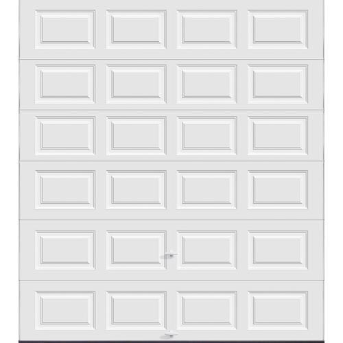 Ideal door 9 ft x 10 ft 5 star white raised pnl insul for 10 x 9 garage door