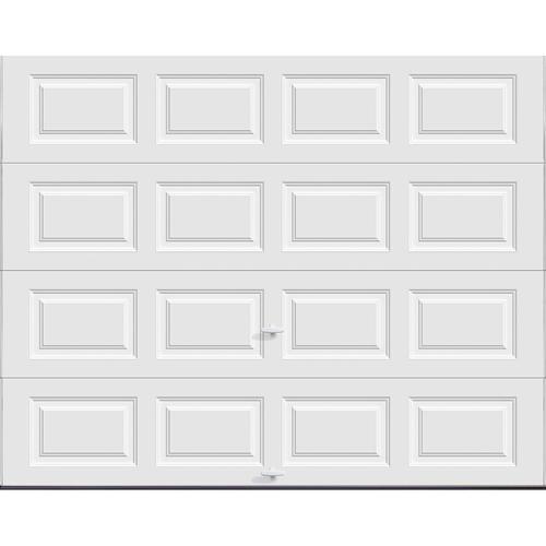 Ideal door 9 ft x 7 ft 5 star white raised pnl for Wind code garage doors