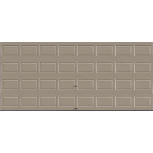 Ideal door 16 ft x 7 ft 4 star sandtone raised pnl for 16x7 insulated garage door